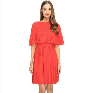 NWT Kate Spade pleated cape midi dress. Elegant.